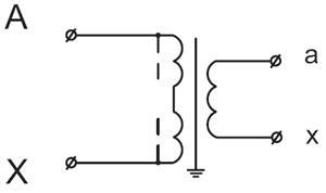 Рис.2. Принципиальная электрическая схема трансформатора напряжения НОЛ-6